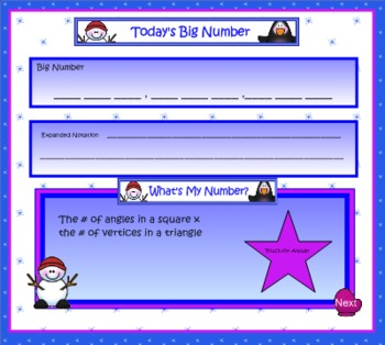 SMART Board Math Calendar Grades 4-5: Day Files Set 4