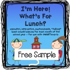SMARTBOARD Attendance/Lunch Choices (fully animated and cu