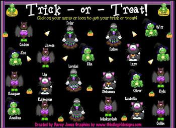 SMARTBoard Attendance - Trick-or-Treat!