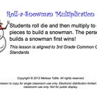 SMARTboard Roll-A-Snowman Multiplication Game & Printable