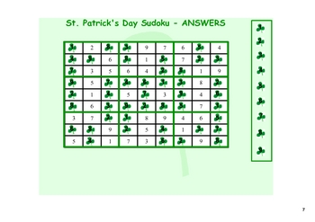 SMARTboard St. Patrick's Day Activities