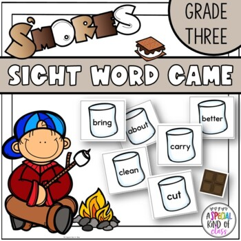 S'Mores Sight Word Game Grade Three Dolch word list