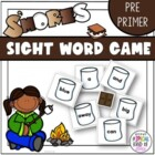 S&#039;Mores Sight Word Game Pre-primer Dolch word list