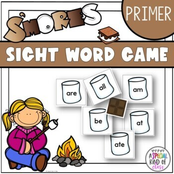 S'Mores Sight Word Game Primer Dolch word list