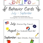SNIPS Behavior Cards: July through September Themed