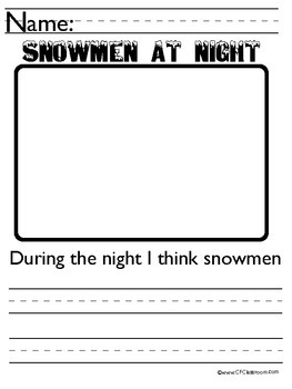 SNOWMEN AT NIGHT WRITING PACKET {and bulletin board}