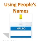 SOCIAL SKILLS BOOKS: Using People's Names