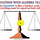SOLVE 2 STEP EQUATIONS WITH ALGEBRA TILES a Powerpoint Pre