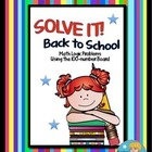 SOLVE IT! Back to School Math Logic Problems Using 100-num