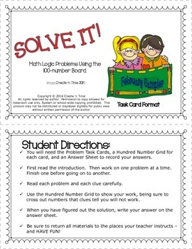 SOLVE IT! FREE February Math Logic Problems SAMPLER