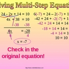 SOLVE MULTI STEP EQUATIONS WORD PROBLEMS a Ppt Presentation