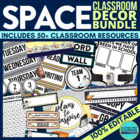 SPACE Theme EDITABLE Classroom Essentials-34 Printable Pro