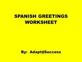 SPANISH GREETINGS PRINTABLE WORKSHEET
