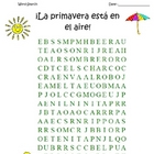 SPANISH La primavera - It's spring!  Word search and KEY