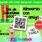SPANISH QR Code Behavior Coupons FREEBIE