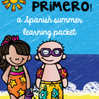 SPANISH Summer Homework Pack for Rising First Graders or E