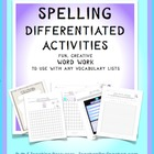 SPELLING ACTIVITIES GENERIC