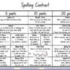 """SPELLING CONTRACT"" Stage 1 Contract & Worksheet"