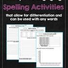 SPELLING! SPELLING! SPELLING! 32 Engaging Spelling Activities