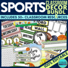 SPORTS Theme EDITABLE Classroom Essentials-34 Printable Pr