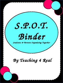 SPOT Binder: Pink, Blue, Black Communication Tool