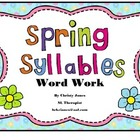 SPRING SYLLABLES- KINDERGARTEN ACTIVITY