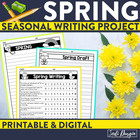 SPRING WRITING PROJECT {aligned with Common Core K-4} bull