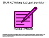 STAAR ALT WRITING 4.20 Level 2 (activity 1) re-make