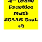 STAAR Math Practice Test 4th Grade #2