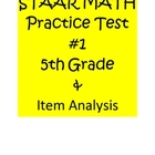 STAAR Math Practice Test 5th Grade &amp; Item Analysis