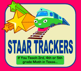 STAAR Math Standards Trackers - (Grades 3, 4 & 5)