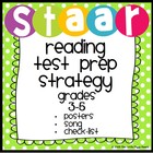STAAR Reading Test Prep Posters + Song {Grades 3-7}