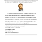 STAAR Writing Abe Lincoln Editing Test