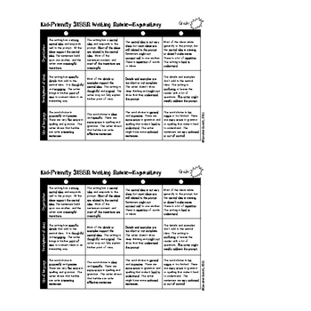 STAAR Writing Rubric-Grade 4