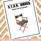 S.T.A.R. Binder cover - Hollywood theme