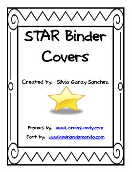 STAR Student Binder Covers