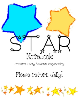 STAR student binder cover
