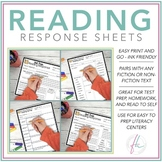 STARR Reading Response Sheets