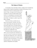 STATUE OF LIBERTY Mini-Lesson 18 Multiple Choice READING C