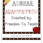 STEM: Animal Adaptations/endangered animals unit! Vocab &amp; 