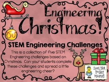 STEM Engineering Challenges Pack ~ Engineering Christmas ~ Set of Five!