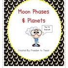 STEM: Inquiry based Moon Phases &amp; Planets: Vocab*Games*Lab