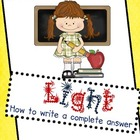 STEM: Light: Writing a Complete Answer for absoption, refl