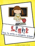 Light: Writing a Complete Answer for absorption, reflectio