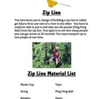 STEM Project Zip Line