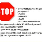 STOP--Reminders before turning in papers
