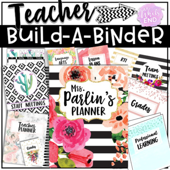 SUPER Teacher Binder {Editable} Custom Printables for Back