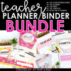 SUPER Teacher Binder & Meet The Teacher {BUNDLE} Back to S