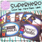 SUPERhero Labels and Desk Tags {Back to School Printables}