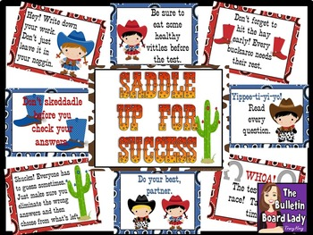 Saddle Up for Success Test Taking Skills Bulletin Board Ki
